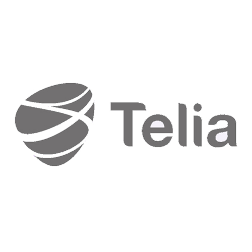 Grayscale version of the TELIA logo