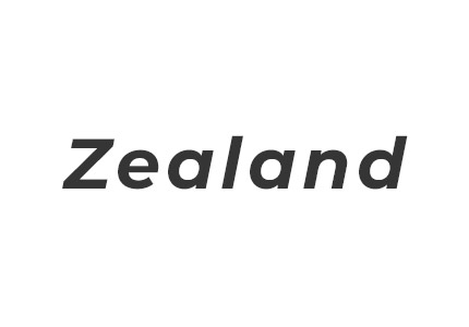 Grayscale version of the ZEALAND logo